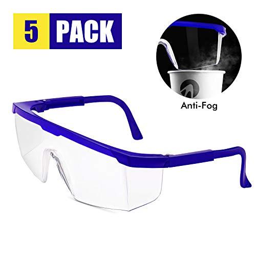 ADORIC Professionelle Schutzbrillen Vollsichtbrillen Professionelle Schutzbrille Arbeitsschutzbrille gegen Spritzer und Spucke Ideal für Baustelle,...