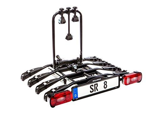 Bullwing SR8 Fahrradträger für 4 Fahrräder auf Auto Anhängerkupplung Heckträger Radträger abklappbar mit Schnellverschluss und Diebstahlschutz...
