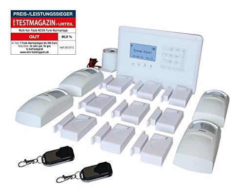 Multi Kon Trade hochwertige GSM Funk Alarmanlage mit Bewegungsmelder - Home Security Kit mit Tür- und Fensterkontakten - Professionelles Smart...