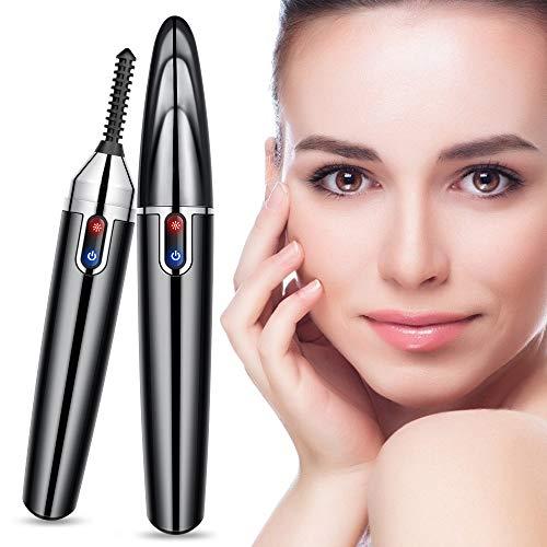 Beheizbare Wimpernzange,elektrische Wimpernzange warm, heated Eyelash Curler, beheizter Wimpernwickler und Wimpernformer, wiederaufladbar für Make Up