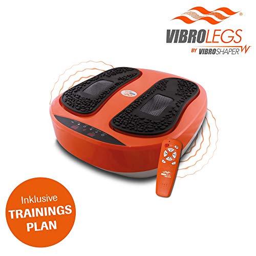Mediashop VibroLegs | Vibrationsplatte | Kombination aus Vibration und Massage, inkl. Fernbedienung, Trainings-Plan, 3 Programme | Das Original aus...