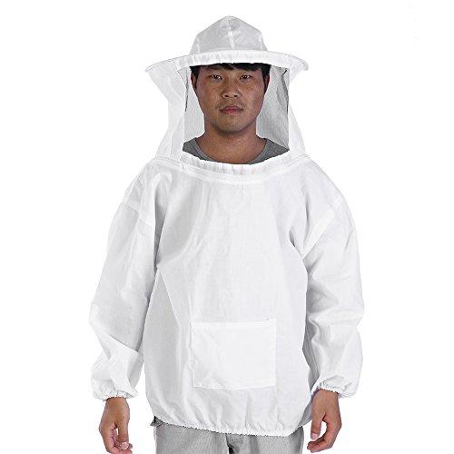 Zerodis Imkerei Anzug Professionell Schutzbekleidung mit Hut und Schleier Bienenzucht Werkzeuge Zubehör Imkerei Ausrüstung für Mann Frauen Weiße...