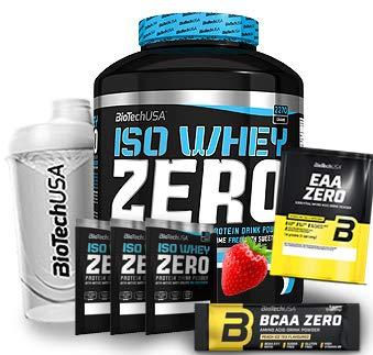 Biotech USA Iso Whey Zero (1 x 2.27 kg) + Shaker + 5 Proben (Erdbeere)