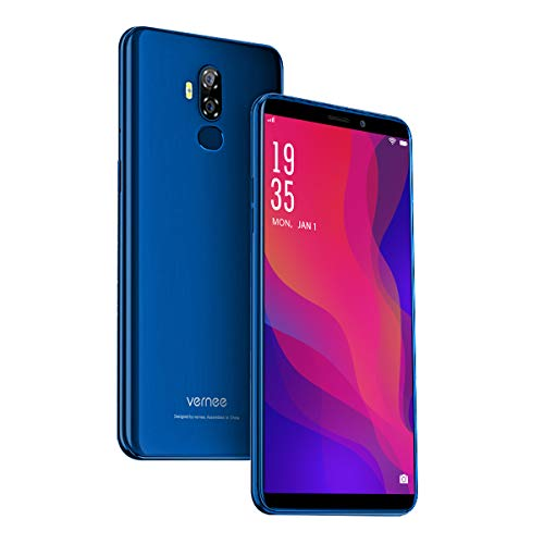 Vernee X2(2019) Dual SIM Smartphone Ohne Vertrag, Android 9.0 4G Handy, 6350 mAh...
