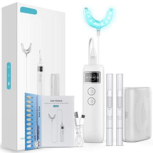 Teeth Whitening Kit Zahnbleaching Gel und Kaltlichtregler, Professionelle Zahnaufhellung Set - home bleaching für weiße Zähne