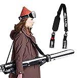 auvstar ski snowboard carrying strap, adjustable ski shoulder strap, ski straps, ski strap, easy transport ...