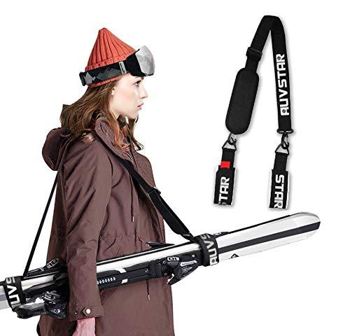 auvstar Ski Snowboard Tragegurt,Verstellbarer Ski Shoulder Strap, Skibänder,Ski...