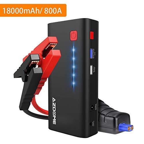 Azdome Starthilfe Powerbank 18000mAh 800A 66.6Wh Starthilfegerät für...