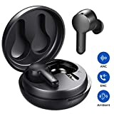 Tribit FlyBuds NC Active Noise Canceling Wireless Earbuds - Bluetooth 5.0 earbuds with 4 integrated microphones for crystal clear calls ...