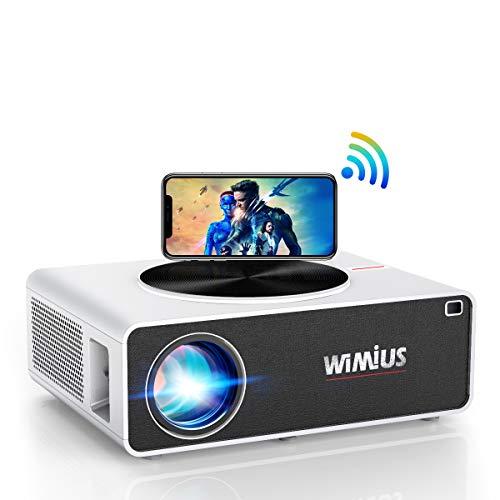 WiFi Beamer, WiMiUS 7200 1080P Full HD Beamer Unterstützung 4K LED Heimkino...
