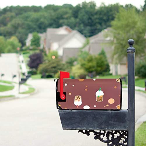 YXUAOQ Süße Boba grüner Tee Trinken Standardgröße Original Magnetic Mail Anschreiben Briefkasten 21 x 18 Zoll Briefkasten deckt Briefkästen...