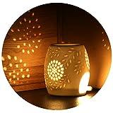 ecooe aroma lampe telysholder aroma lampe laget av keramisk hvit ...