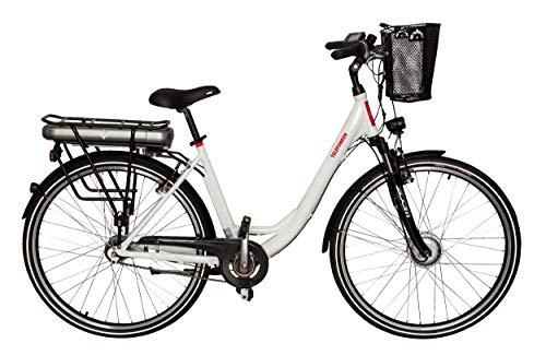 Telefunken E-Bike Elektrofahrrad Alu, mit 7-Gang Shimano Nabenschaltung, Pedelec Citybike leicht mit Fahrradkorb, 250W und 13Ah, 36V...