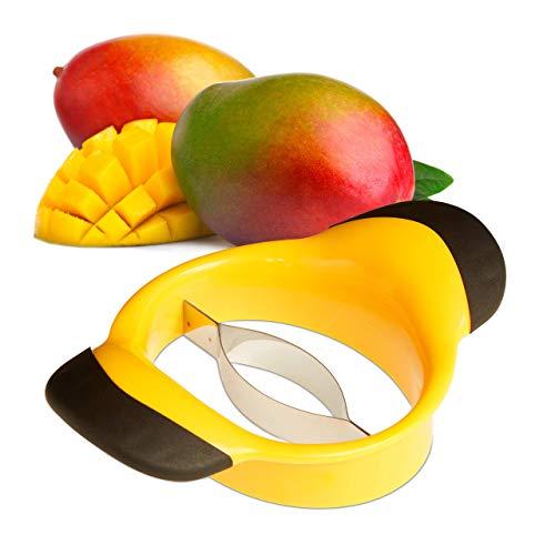 Relaxdays Mangoschneider, Mango teilen & entkernen, rutschfester Griff,...