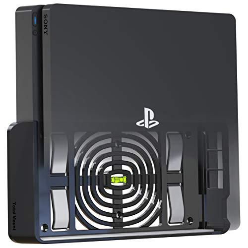 TotalMount Wandhalterung für Sony PlayStation 4 Slim Konsole mit Hitze...