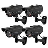 TOROTON Dummy Kamera Fake Überwachung Kamera CCTV mit...