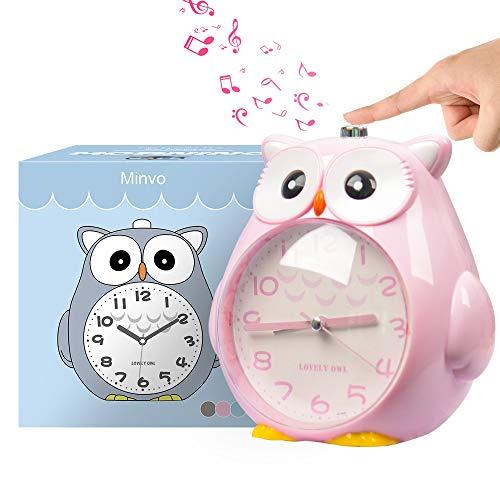 Wecker Kinder ohne Ticken Kinderuhr mit nachtlicht, Schlafzimmer Snooze Funktion Uhr mit Dim Yellow Night Light und laut Alarm für Kinder, Batterie...