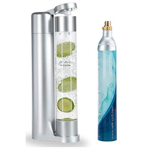 Levivo Wassersprudler Fruit & Fun Sprudler Slim, mit 1-Liter-Sprudlerflasche und...