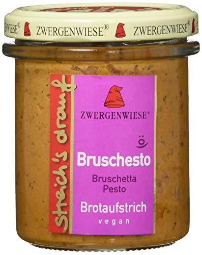 Zwergenwiese Bio Aufstrich streichs drauf Bruschesto (Bruscheta nach Pesto Art) laktosefrei, 160 g