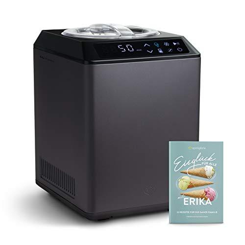Eismaschine & Joghurtbereiter Erika 2,5 L mit selbstkühlendem Kompressor 250 W,...