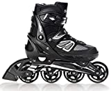 RAVEN Inline Skates Inliner Advance adjustable Black 38-42 (25-27,5cm)