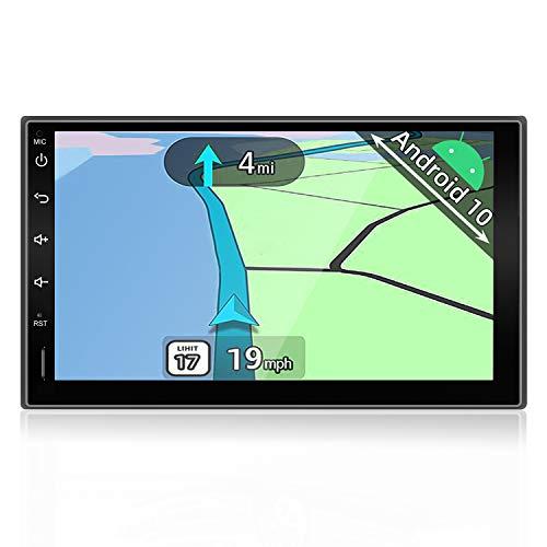 YUNTX Android 10 Doppel Din Autoradio mit navi - GPS 2 Din - Rückfahrkamera...