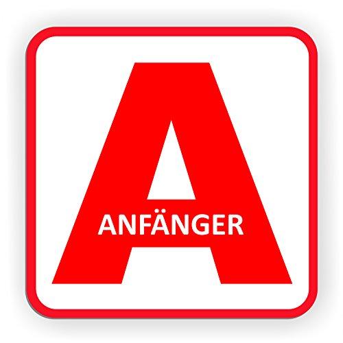 I 12,6 x 11 cm I Vorsicht Achtung Fahranf/änger I f/ür Kfz Auto LKW I abnehmbar wetterfest magnetisch I hin/_291 iSecur Auto-Magnet-Schild Anf/änger