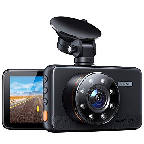 [Neu-aktualisiert] APEMAN Dashcam mit 8 IR-Leuchten, Unterstützung GPS, 1080P...