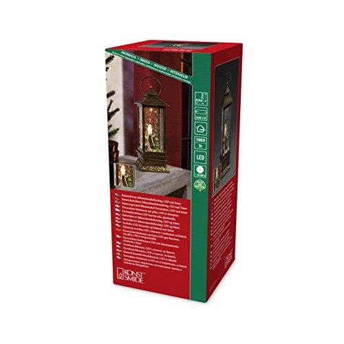 Konstsmide 2888-000 LED Schneelaterne mit Weihnachtsmann, wassergefüllt / für Innen (IP20) /  Batteriebetrieben: 3xAA 1.5V (exkl.) /1 warm Braun...