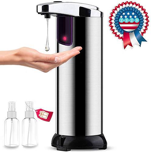 Tailiqi Seifenspender Automatisch, 250ml Automatischer Seifenspender mit Sensor Infrarot, für Waschraum, Küchen, Hotel, Restaurant (Edelstahl)