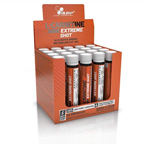 Olimp L-Carnitine Forte 3000 Extreme Shot Kirsche 20 x 25 ml, 1er Pack (1 x 500...