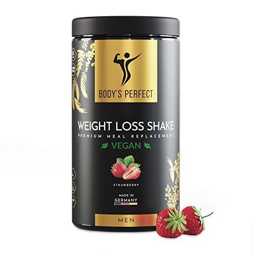 BODY'S PERFECT® Weight Loss Shake Vegan für Männer, Diät Shake zur...