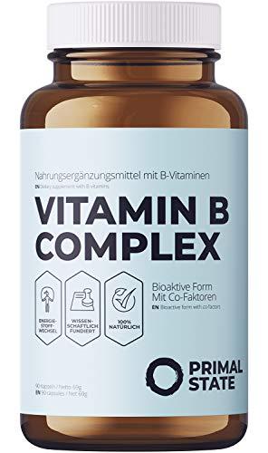 Vitamin B Komplex hochdosiert vegan - alle acht B-Vitamine - Bioaktiv & mit...