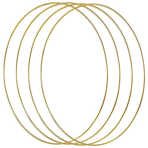 Silbern 10 Gr/ö/ßen 10 St/ück Metallringe Handwerk Metall Hoops f/ür Dream Catcher