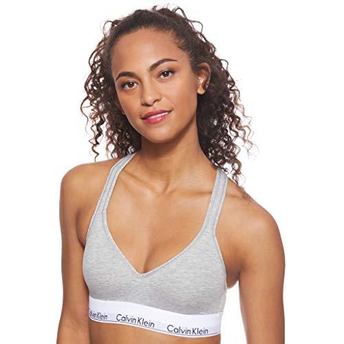 Calvin Klein Damen Bustier Bralette Lift BH, Grau (Grey Heather 020), XS