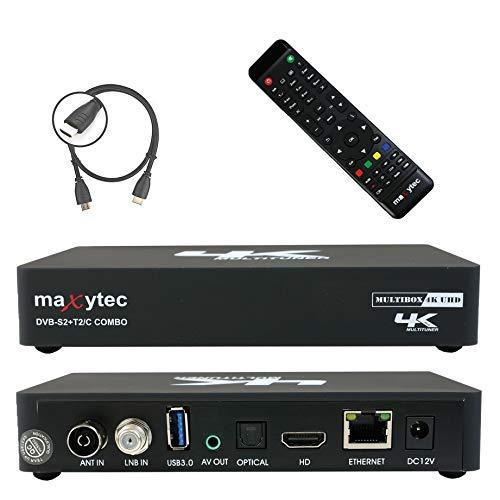 Maxytec Multibox 4K UHD 2160p H.265 HEVC Android & E2 Linux, 8GB Flash, USB3.0,...