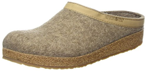 Haflinger Unisex-Erwachsene Grizzly Torben Pantoffeln, Beige (550 Torf), 44 EU