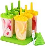 TOPELEK Eisformen 6 Eisformen Popsicle Formen Set, EIS am...