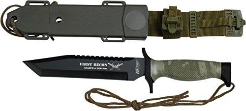 MTech USA Outdoormesser MT-676 Serie, Messer KOMBI Griff CAMO, scharfes Jagdmesser, Taschenmesser 15,24 cm ROSTFREI Klinge Feststehend Halbgezahnt,...
