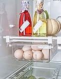 AIKZIK Kjøleskapskuffer, justerbar oppbevaringshylle ...