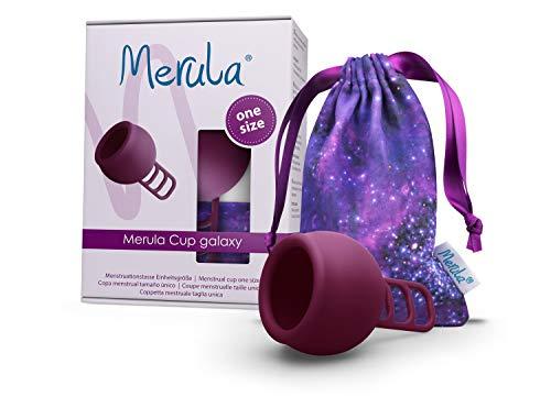 Merula Cup galaxy (violett) - One size Menstruationstasse aus medizinischem...