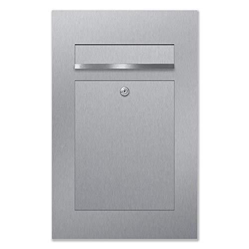 Briefkastenanlage 1 Fach Postkasten modern 1er Unterputzbriefkasten in Anthrazit Grau RAL 7016 AL Briefkastensysteme