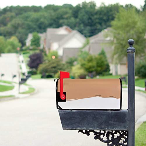 YXUAOQ Süße Boba Grüntee Trinken Standardgröße Original Magnetic Mail Anschreiben Briefkasten 21 x 18 Zoll Magnetic Mailbox Dekoration Magnetic...