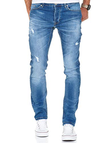Amaci & Sons heren stretch basic slim fit denim jeansbroek ...