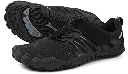 WHITIN Herren Damen Traillaufschuhe Minimalistische Barfußschuhe 5 Five Finger Zehenschuhe Fivefinger Trail Laufschuhe Fitnessschuhe Barfussschuhe...