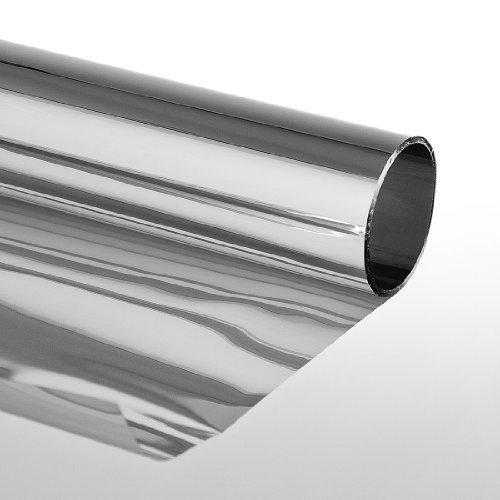 Sonnenschutzfolie mit Spiegeleffekt Kratzfest  Silber Selbstklebend Fensterfolie Tönungsfolie 75 x 300cm, silber
