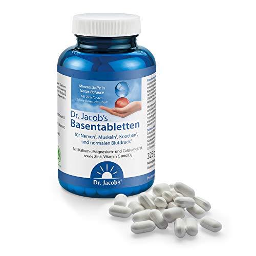 Dr. Jacob's Basentabletten, 250 Tabletten I wenig Natrium, reich an Kalium I für Muskeln, Knochen, Gelenke und Blutdruck I Mineralstoffe Kalium,...
