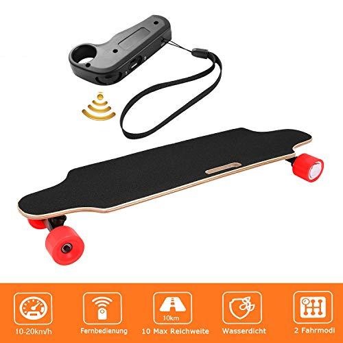 Longboard E Komplettboard Elektrisches City Skateboards Elektrolongboard mit Fernbedienung und 250W Motor   Reichweite 10 km, Max. Geschwindigkeit...