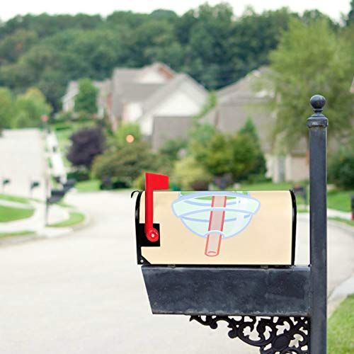 YXUAOQ Niedliche Boba grüner Tee Trinken Standardgröße Original Magnetic Mail Anschreiben Briefkasten 21 x 18 Zoll Flagge Mailbox Cover Primitive...