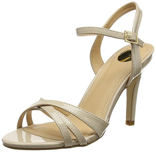Buffalo Shoes women 312703 PATENT PU ankle strap, beige (BEIGE 01), 36 EU